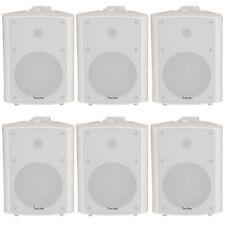 "6x 90w White Wandmontage Stereo Lautsprecher –5.25"" 8 Ohm – Qualität Home Audio Musik"