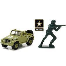 GREENLIGHT 1:64 U.S. ARMY 2016 JEEP WRANGLER WITH PLASTIC SOLDIER DIE-CAST 29884