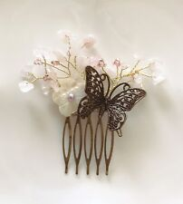 Traditional Korean Handmade Flower Wedding Party Hair Comb Accessory US Seller