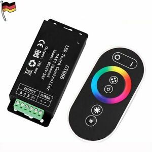 RF LED RGB Controller Regler 18A Touch-Funk Steuergerät Wireless + Fernbedienung
