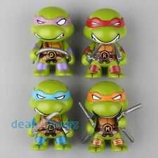 4 PCS Teenage Mutant Ninja Turtles TMNT Cute Mini Action Figure Toys Collection