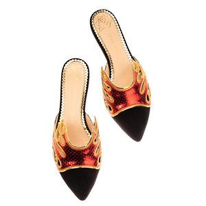 RRP €605 CHARLOTTE OLYMPIA INFERNO Leather Mule Shoes EU 42 UK 9 US 12 Metallic