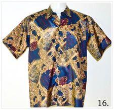 Mens Thai Silk Patterned Shirts/Casual Paisley Retro Hawaiian ~ 22 Patterns