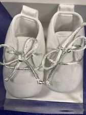Will Beth Baby Gift Shoes Size:0 White~Unisex Cotton