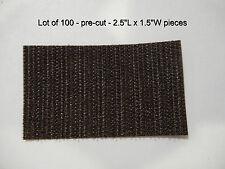 """VELCRO® Brand #192102 Hook #81, pre-cut 2.5""""L x 1.5""""W, sew-on type - Lot of 100"""