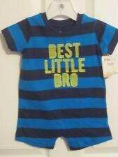 NWT/Carters Infant Boys Bodysuit/0-3 Mos/BEST LITTLE BRO/Super Cute/Brand New!