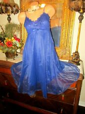 Vintage (Unworn) royal blue lacy nightgown Warners 34 GORGEOUS LINGERIE