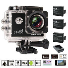 UK SJ4000 WIFI 12MP HD 1080P Sports Travel DV Action Camera+3 Batteries+Charger