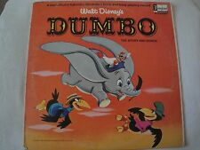 WALT DISNEY'S DUMBO THE STORY AND SONGS VINYL LP 1965 DISNEYLAND RECORD CASEY JR
