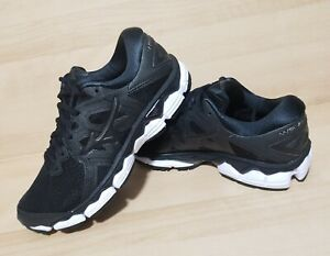Womens MIZUNO WAVE Sky 2 Black Size 6 Running Shoes New Athletic Sneakers