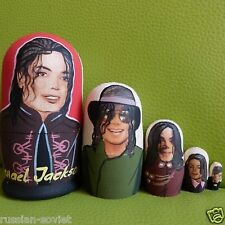 MICHAEL JACKSON - RUSSIAN HAND PAINTED DOLLS - SET OF 5