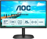 "AOC monitor LED Pc 27"" Full HD 16:9 75 Hz 4 ms VA HDMI/VGA 27B2AM"