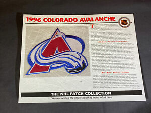 Willabee & Ward NHL Official Patch 1996 Colorado Avalanche