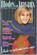 MODES ET TRAVAUX N°1007 octobre 1984 page poupées couture broderie crochet