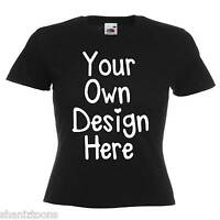 Ladies Womens Black T Shirt Personalised Text Custom Design Hen Night Party