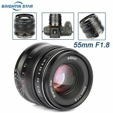 Brightin Star 55mm F1.8 Camera Lens MF fr Canon EOSR Nikon Z-Mount Z6 Z7 Sony A7