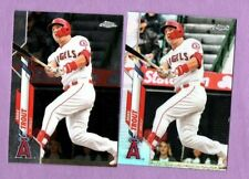2020 TOPPS CHROME MIKE TROUT #1 BASE & REFRACTOR ANGELS