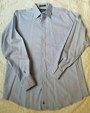 Nordstrom Solid Blue Button down Dress Shirt long sleeves Men's large 16 / 36