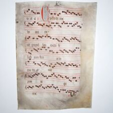Manuscripts Original Vellum 2 Sided16th Century Manuscript Page Hand Written Keep You Fit All The Time