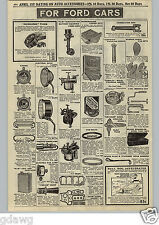 1925 PAPER AD Ford Car Auto Holley Kingston Deluxe Carburetor Radiator