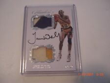 JAMES WORTHY 2016-17 FLAWLESS 3-CLR GAME USED DUAL JERSEY AUTO 14/20 SIGNED CARD