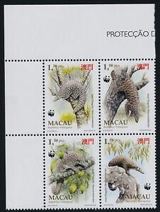 Macao 770a TL Block MNH Asian Pangolin