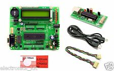 ATMEL 8051 Quick Starter Developme |AT89S52|MAX232|16x2 LCD|DS1307|USBProgrammer