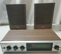 Vintage Panasonic Re-7173 FM-AM Multiplex Stereo and speakers made in Japan