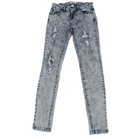 Refuge Blue Stone Washed Distressed Skinny Jeans Women's Size 8