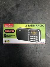 Digital Sunflash- Am/Fm Radio (Z-124Am) Black Color
