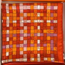 Hermes Bolduc Silk Scarf au Carre scarf 90 Brand New