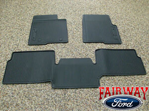 10 thru 14 Ford F-150 OEM Black Rubber All Weather Floor Mat 3-pc Extended Cab