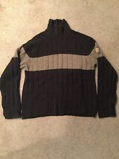 Abercrombie & Fitch Green Wool Blend Turtle Neck Sweater Men's Size Large