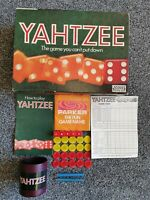 YAHTZEE GAME BY PARKER VINTAGE EDITION DATED 1956 *100% COMPLETE* VERY RARE