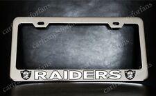 Raiders License Plate Frame Custom Made Of Chrome Plated Metal