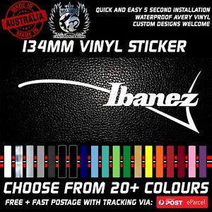 LEFT HANDED Ibanez logo Guitar vinyl Sticker Decal 134mm Headstock sticker