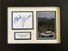 MIKI BIASION HAND SIGNED AUTOGRAPH FRAMED PHOTO LANCIA DELTA RALLY.