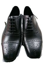 LOAKE JAMES BLACK CALF LEATHER OXFORD BROGUES.SIZE 8.  RRP £175