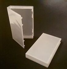 *NEW* Pack of 10 VHS Tape Boxes Clear Gloss Plastic Snap Case Replacement Cover