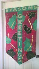 "Indoor/Outdoor ""Seasons Greetings"" Holiday Applique Flag 25"" x 47"""