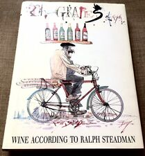 THE GRAPES OF RALPH-WINE ACCORDING TO RALPH STEADMAN-SIGNED-1st UK EDITION-OOP