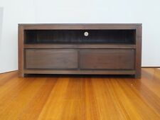 Entertainment Unit with drawers, Timber TV Stand, Width 120cm, Earthy Colour