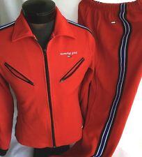 Tommy Hilfiger Vintage Track Suit 2 Piece Jacket Sweatpants Athletic Women M L