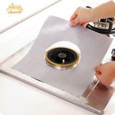 1Pc Reusable Foil Gas Hob Range Burner Glass Fiber Protector Pad Liner Cover Mat