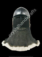 Medieval Bassinet Helmet With Chain mail Helmet Knight Armor Helmet