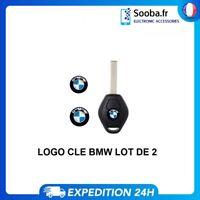 X2 Logo Stickers Clé Clefs BMW 14mm en Aluminium Emblème Autocollant