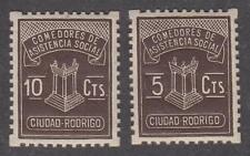 Spain Ciudao Rodrigo (Salamanca) Civil War era locals 2 MNH stamps