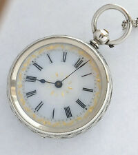 Swiss made in Unknown maker Silver 0.935 unisex vintage antique pocket watch