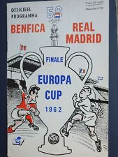 More details for 1962 european cup final - real madrid 🇪🇦 v benfica 🇵🇹