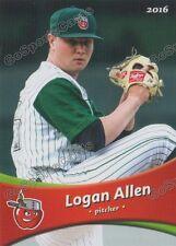 2016 Fort Wayne Tin Caps Logan Allen RC Rookie Padres Minor